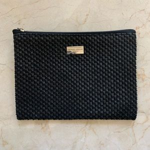 Giorgio Armani Cosmetic Case Woven Leather-Like